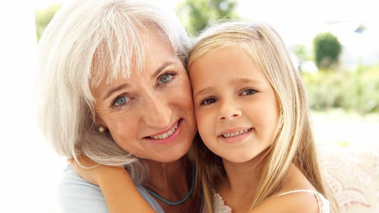 woman with grandchild | children's dentist in palos height il