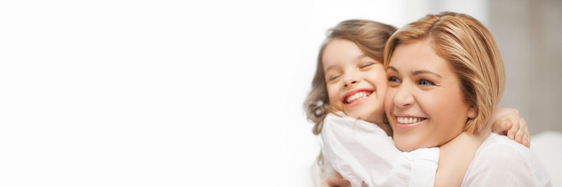 Mother with daughter | children's dentist Palos Heights